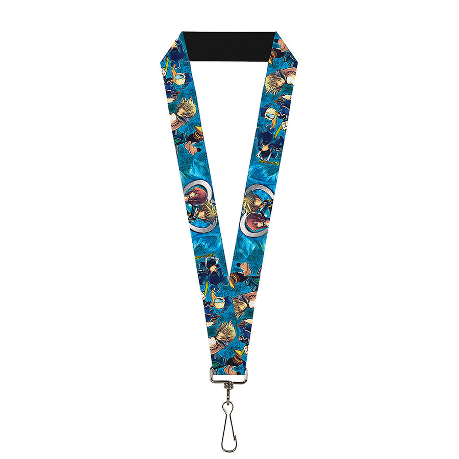 "Lanyard - 1.0"" - Kingdom Hearts 6-Character Pose2 Turquoise Blues"