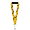 "Lanyard - 1.0"" - HUFFLEPUFF Crest Stripe Yellow Black"