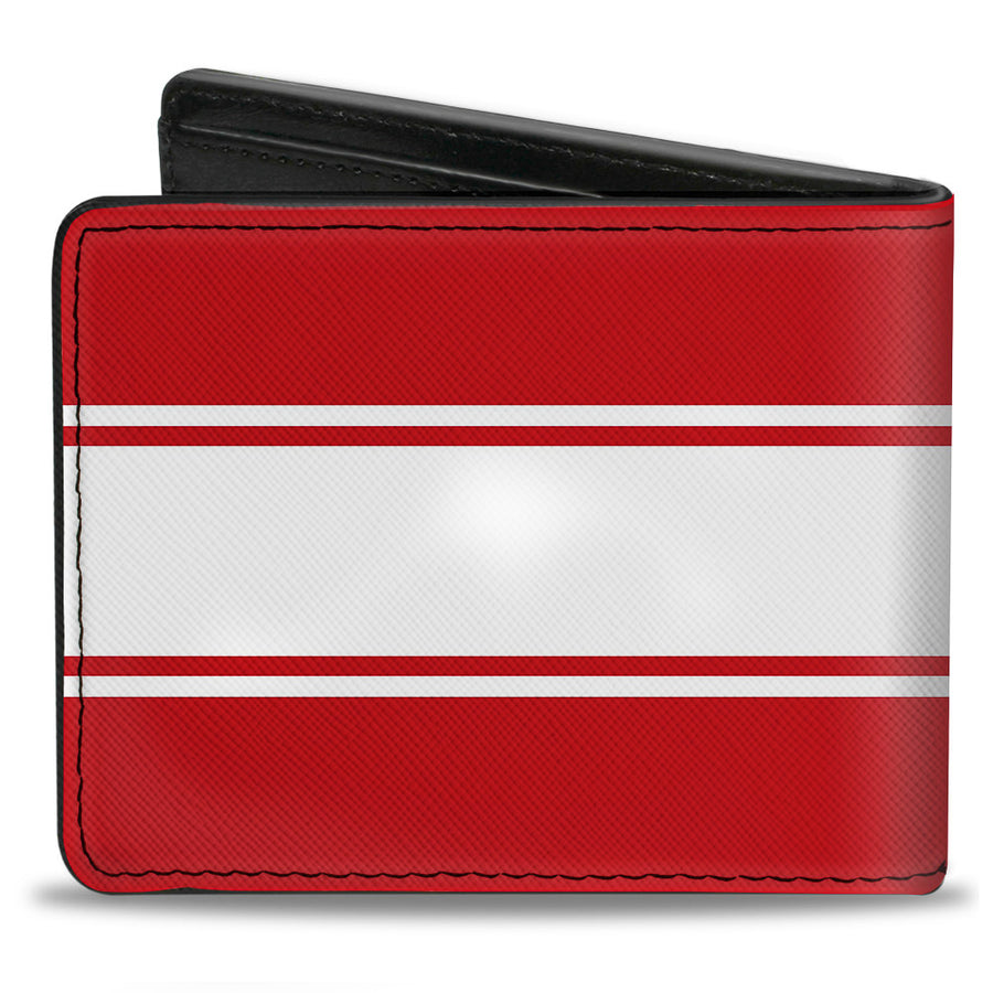 Bi-Fold Wallet - Ford Mustang GT CS Stripe Red White