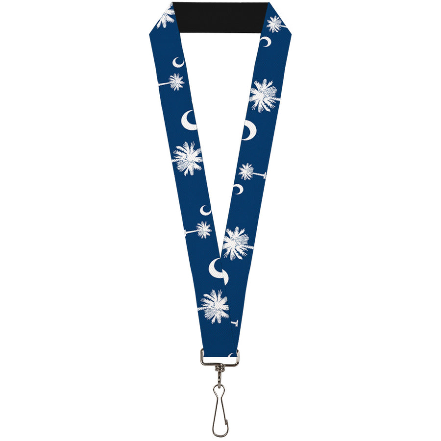 "Lanyard - 1.0"" - South Carolina Flags Scattered"