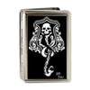 Business Card Holder - LARGE - Harry Potter Dark Mark Symbol FCG Black Gray White