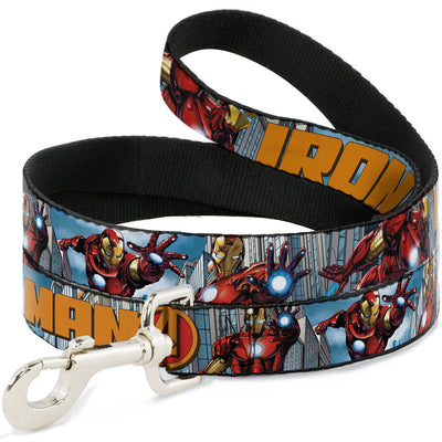 Dog Leash - IRON MAN w/Avengers Logo Cityscape