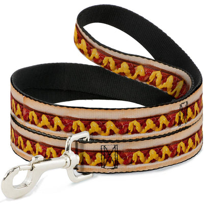Dog Leash - Hot Dog w/Mustard & Ketchup Vivid