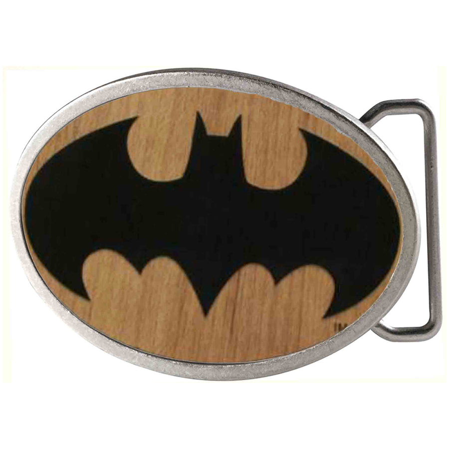 Batman Framed Reverse GW Black - Matte Oval Rock Star Buckle