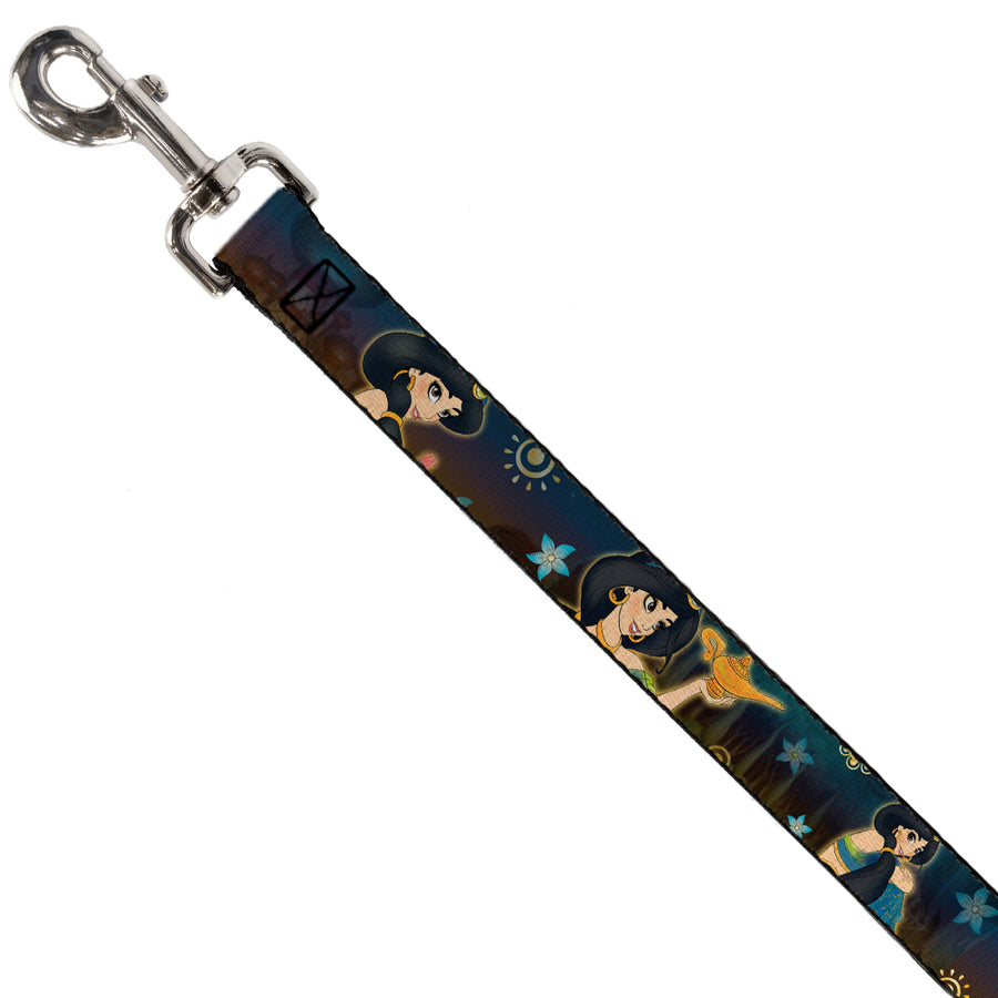 Dog Leash - Jasmine & Aladdin Carpet Ride/Jasmine Poses/Flowers