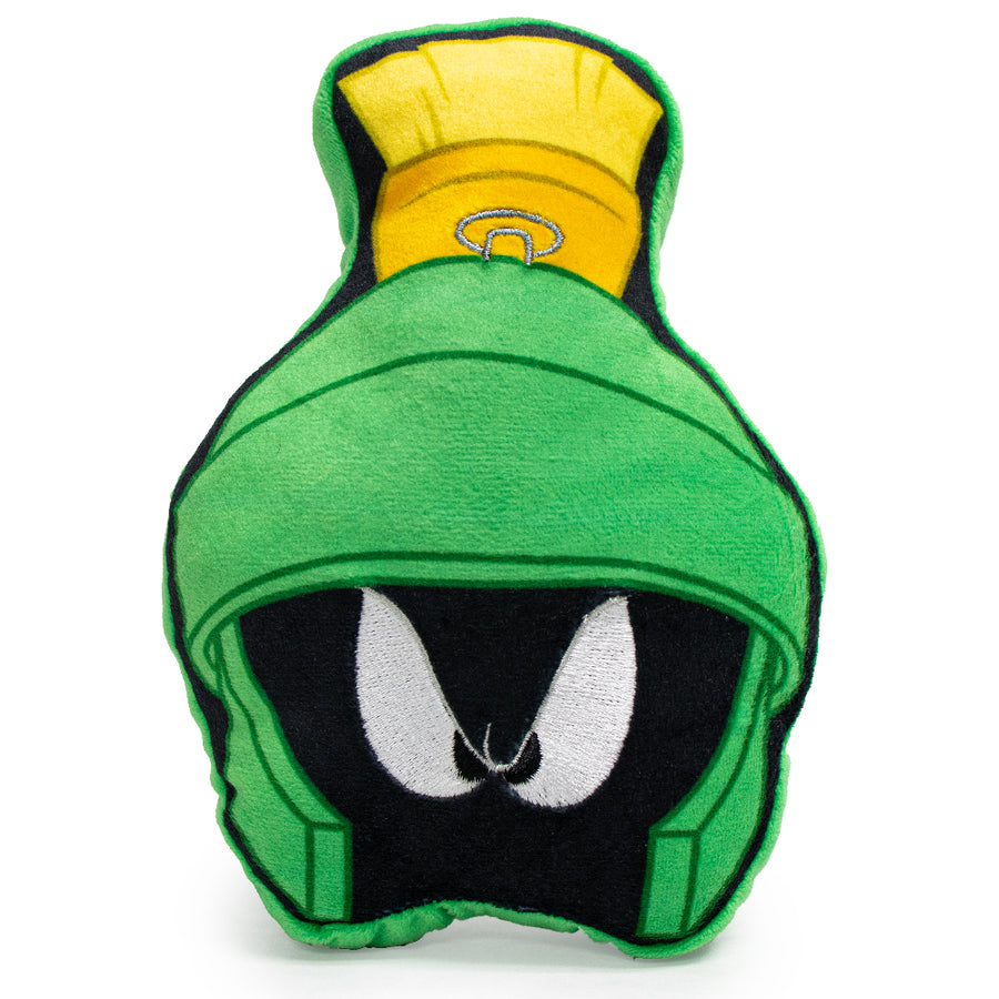 Dog Toy Squeaky Plush - Looney Tunes Marvin the Martian Face