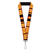 "MARVEL AVENGERS Lanyard - 1.0"" - Iron Man Face I AM IRON MAN Black Yellow Glow"