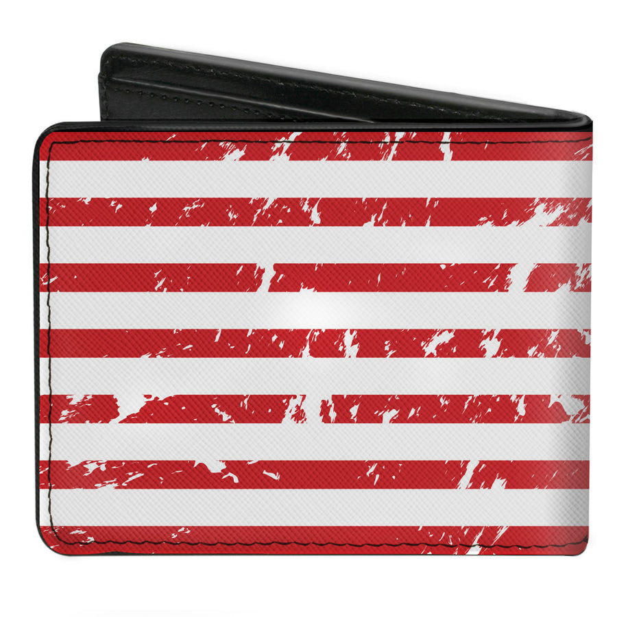 Bi-Fold Wallet - FORD Script Americana Flag Weathered White Red Blue