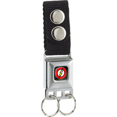 Keychain - Flash Logo Full Color Black