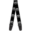 Guitar Strap - MOPAR Logo Repeat Black Silver Gradient