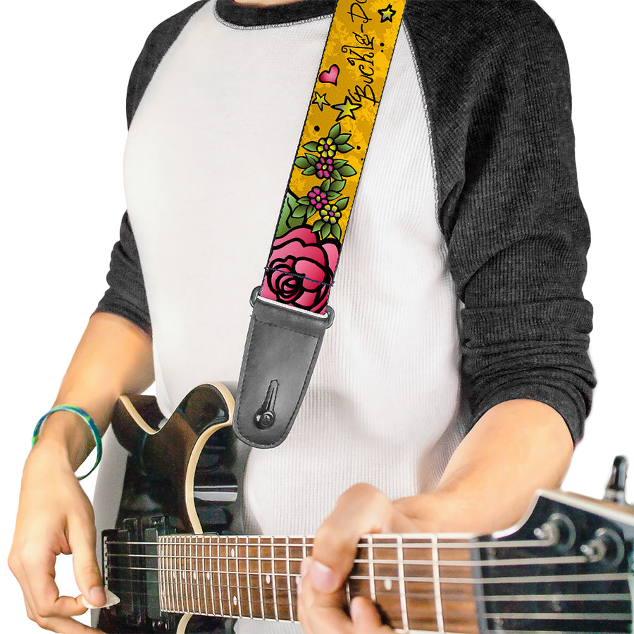 Guitar Strap - Mom & Dad Yellow