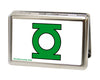 Business Card Holder - LARGE - Green Lantern Logo CLOSE-UP FCG White Green