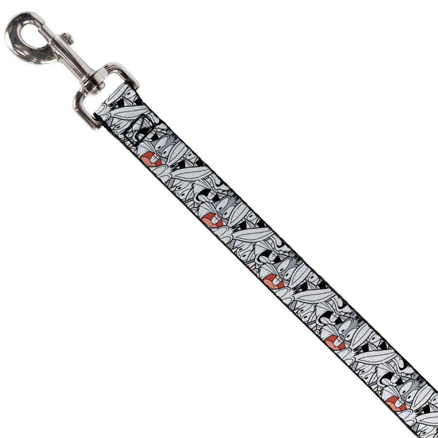 Dog Leash - Bugs Bunny Expressions Stacked White/Black/Gray