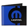 Canvas Bi-Fold Wallet - MOPAR Logo Stripe2 Black Blue