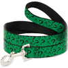 Dog Leash - Question Mark Scattered3 Dark Green/Black