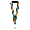 "Lanyard - 1.0"" - AQUAMAN 2017 Icon Scales Stripe Blues Golds"
