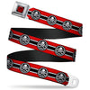 MARVEL AVENGERS HYDRA Logo Full Color Black Red Seatbelt Belt - HYDRA Logo/Stripe Red/Black/White Webbing