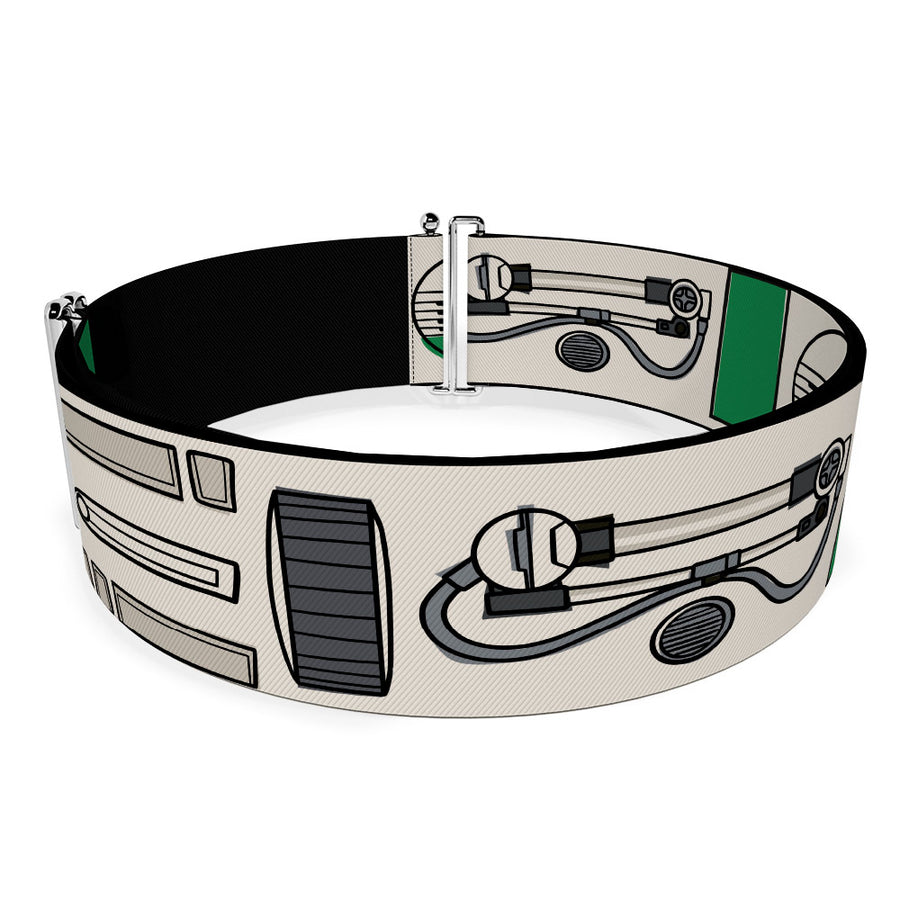 Cinch Waist Belt - Star Wars D-0 Parts Bounding White Black Green Grays