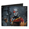 Canvas Bi-Fold Wallet - Secret Six Issue #15 Deadshot Cover Pose Bullets Scattered