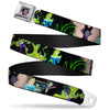 Maleficent Face2 Full Color Light Pink Glow Seatbelt Belt - Princess Aurora & Maleficent Scenes Webbing