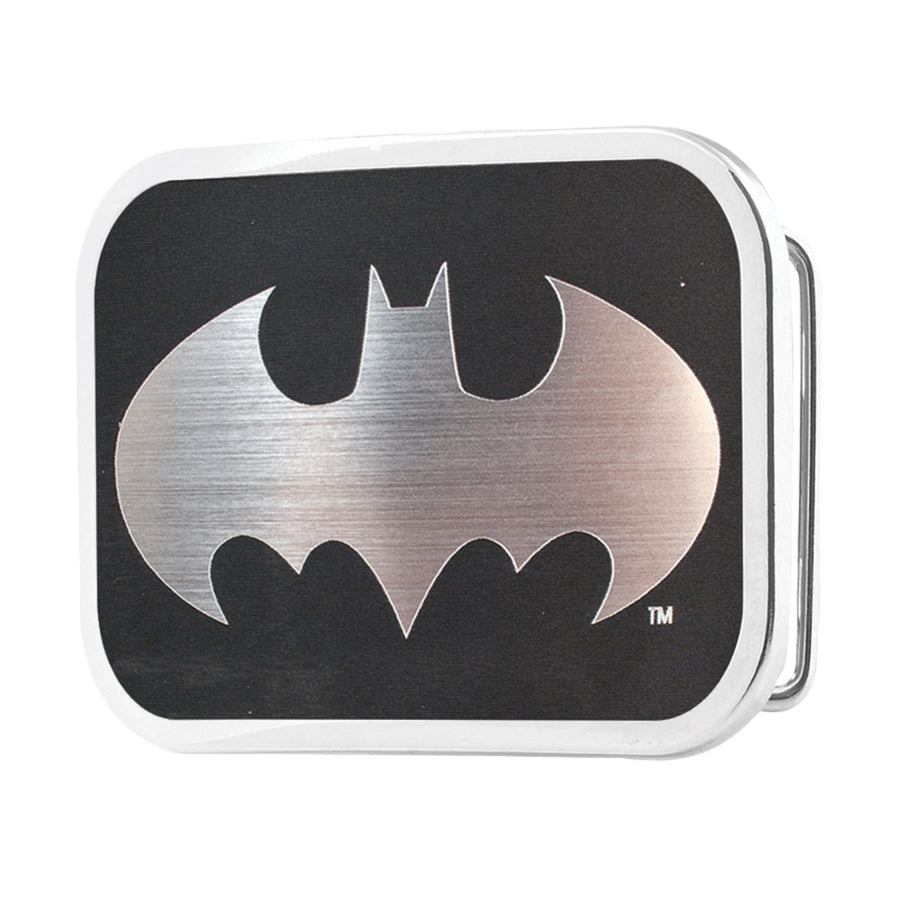 Batman Framed Reverse Brushed Silver - Chrome Rock Star Buckle
