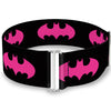 Cinch Waist Belt - Batman Signal Black Fuchsia