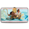 Hinged Wallet - Moana Voyage Group Pose Tribal Icons Collage Blues Multi Color