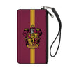 Canvas Zipper Wallet - LARGE - GRYFFINDOR Crest Vertical Stripe Burgundy Gold