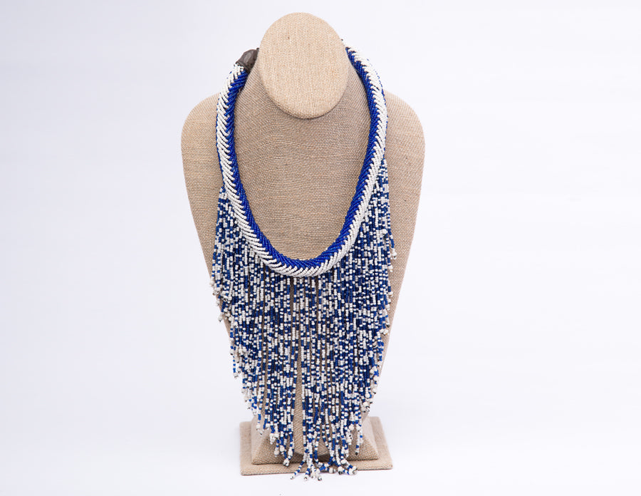 Shimmy necklace blue