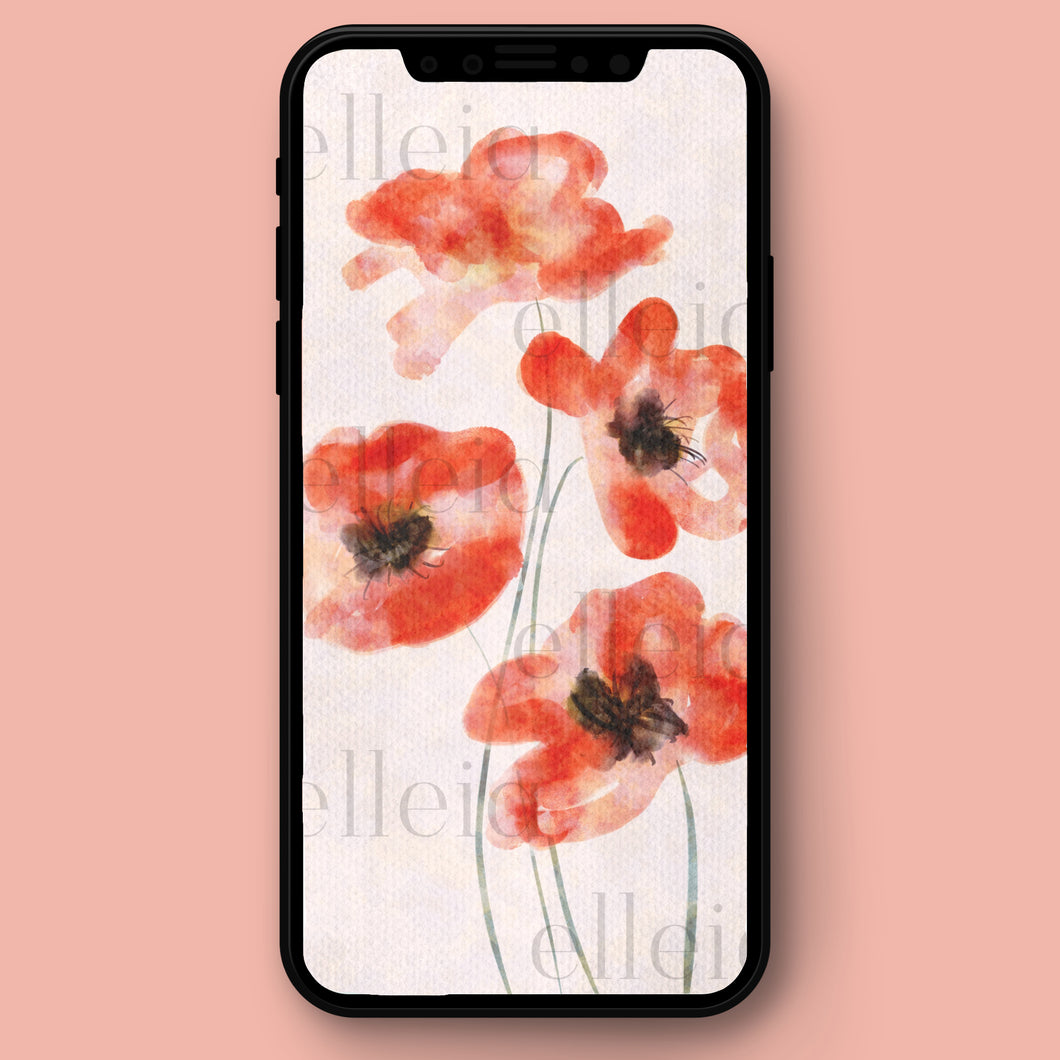 Poppies • Phone Background