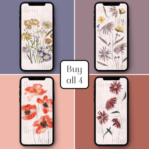 Wildflower Bundle • 4 Phone Backgrounds