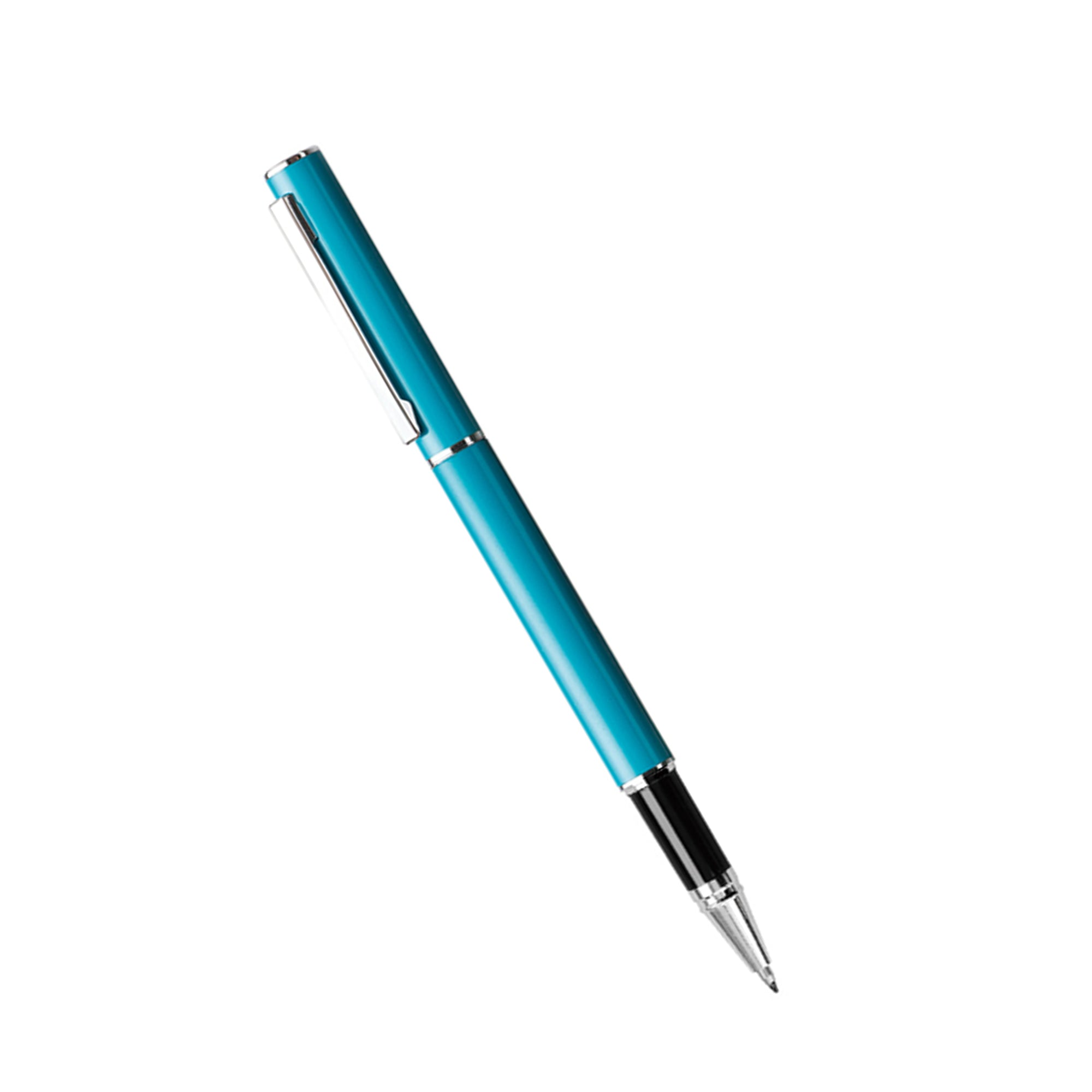 Premium Metallic Black Gel Pen - Blue