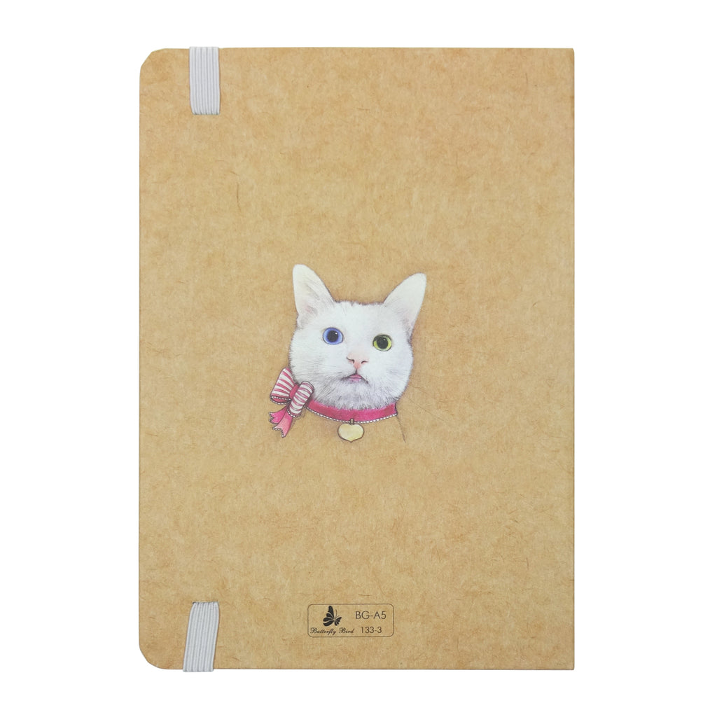 A6 Cat Diary - Pink Bow
