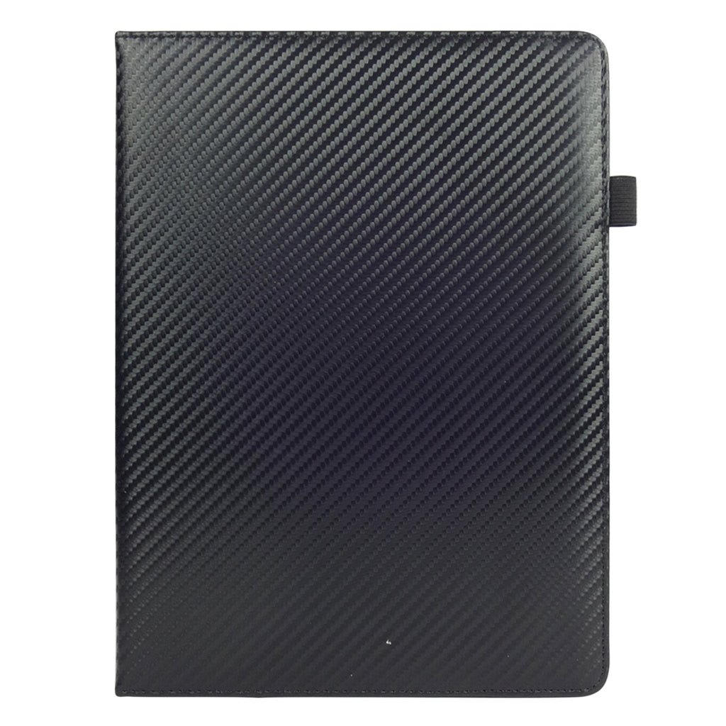 360° Rotating Universal Tablet Case - Black Carbon