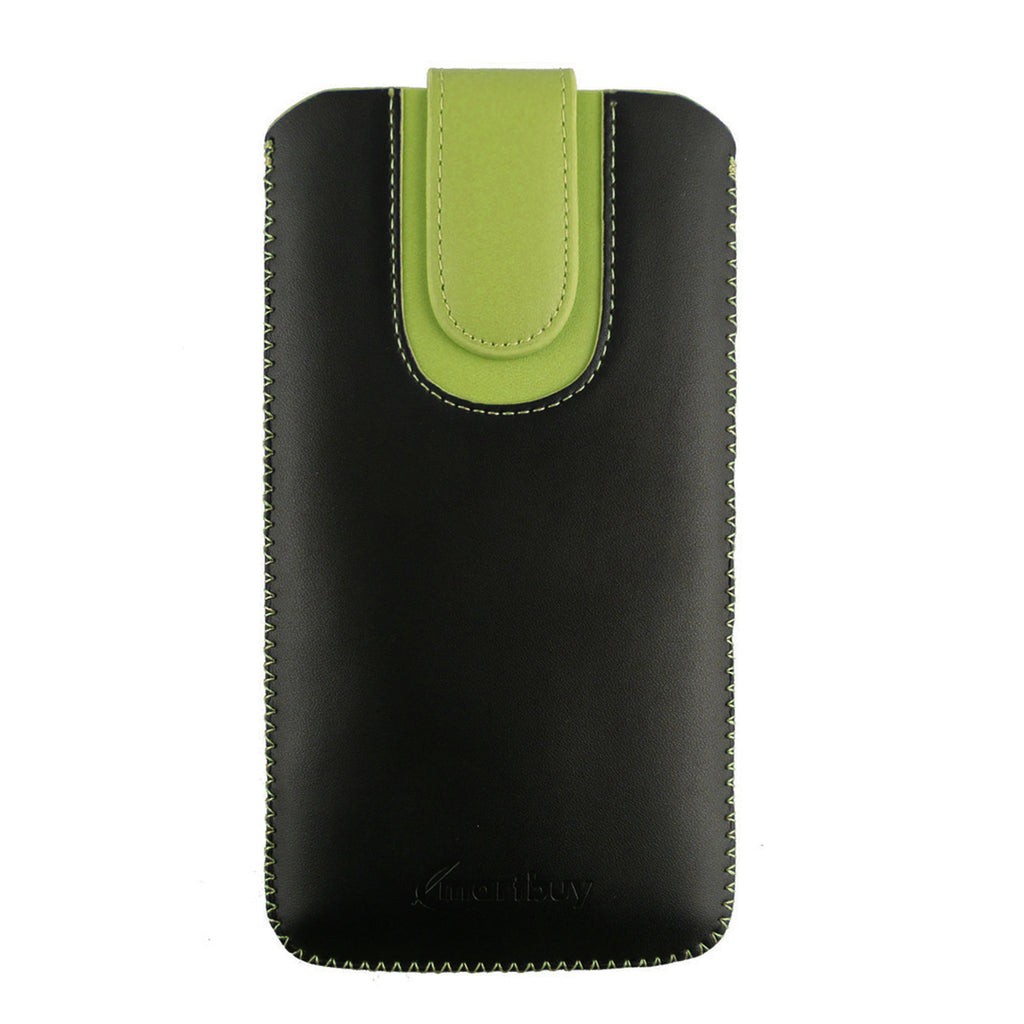 Universal Phone Pouch - Black Green Plain