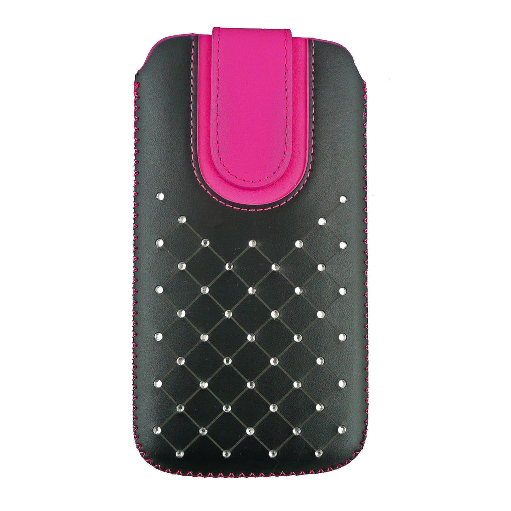 Universal Phone Pouch - Hot Pink Gem Studded