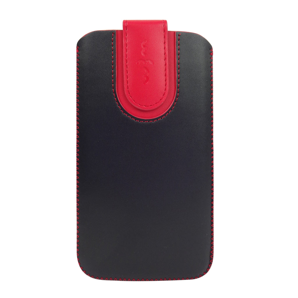 Universal Phone Pouch - Black Red Plain