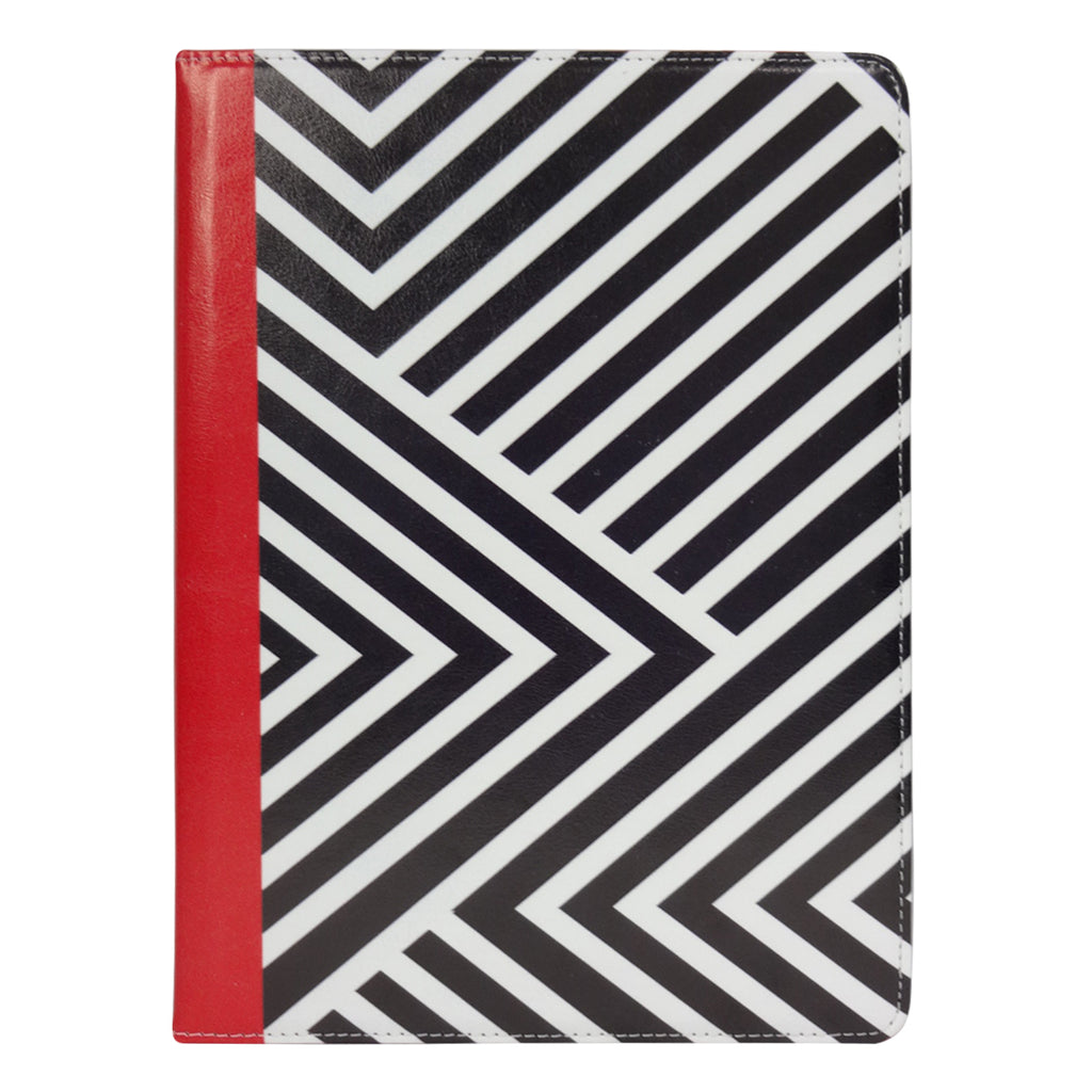 Black / Red Stripes Universal Tablet Case