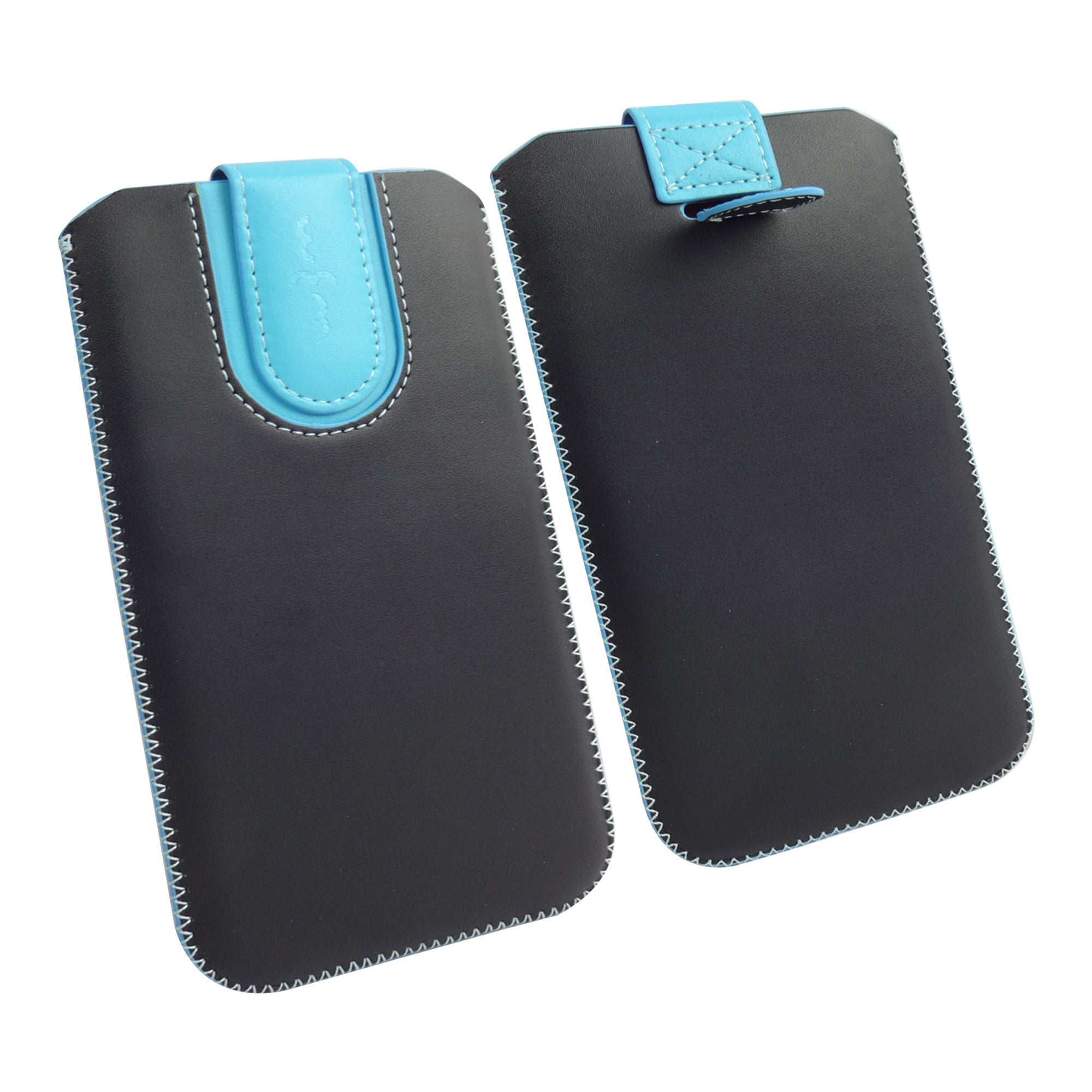 Universal Phone Pouch - Black Blue Plain