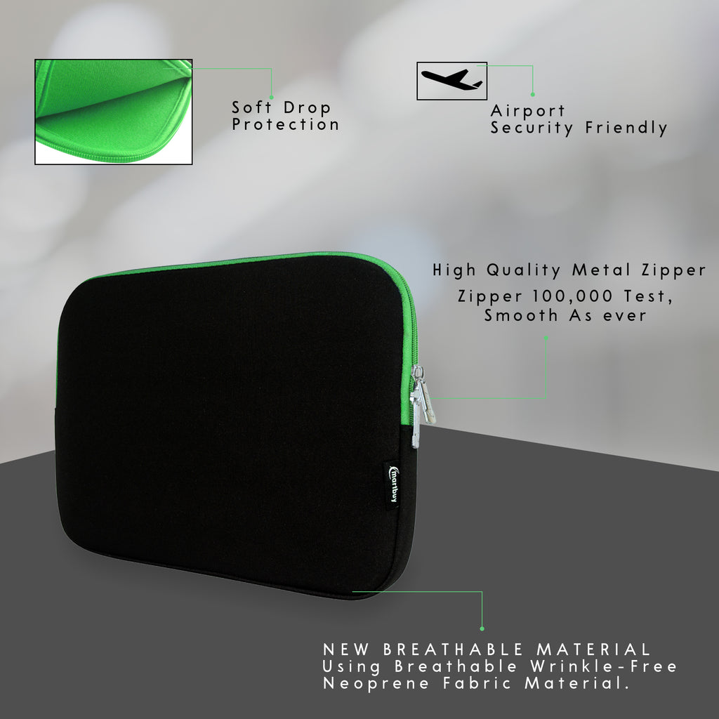 Universal Neoprene Zip Case - Black Green