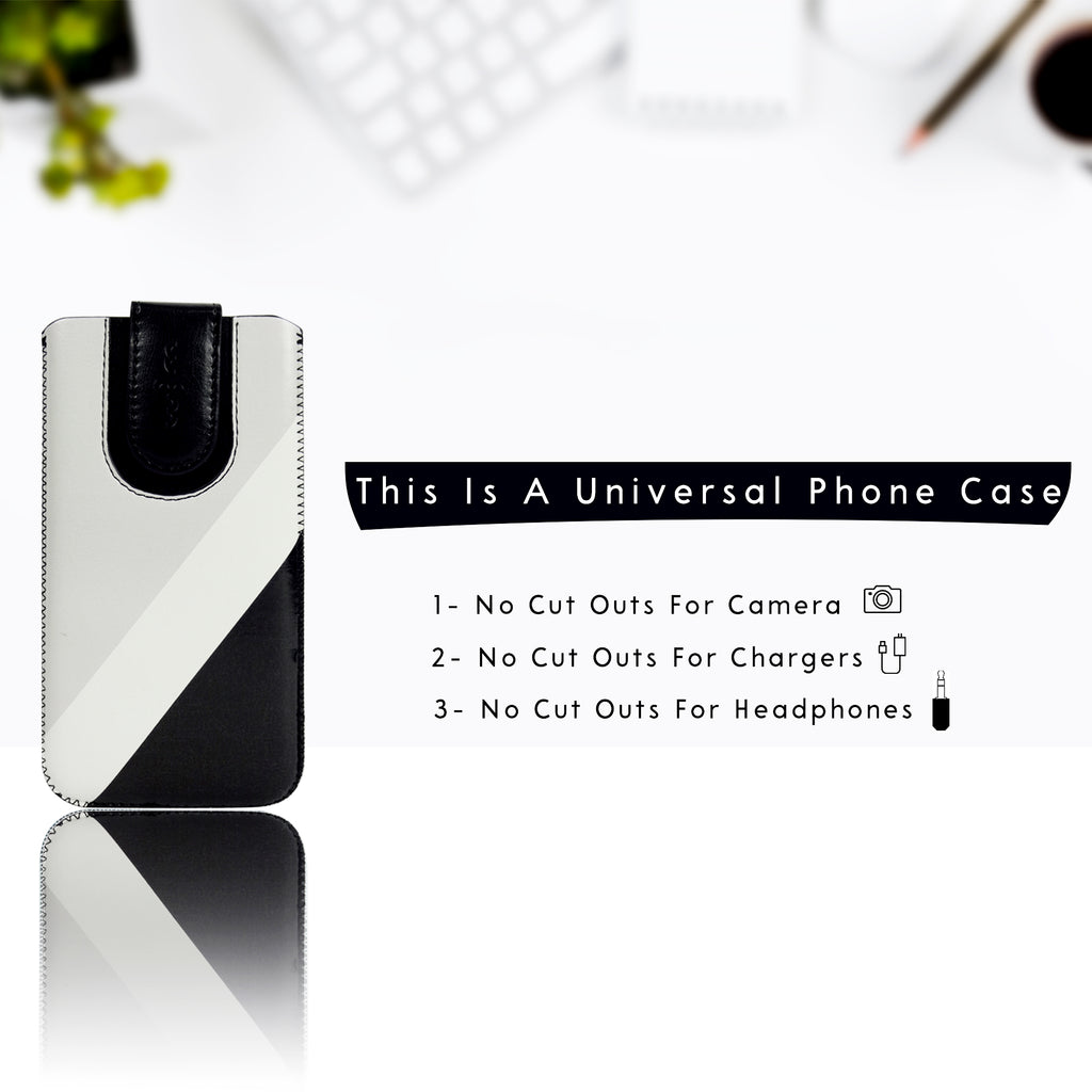 Universal Phone Pouch - Black Grey Plain