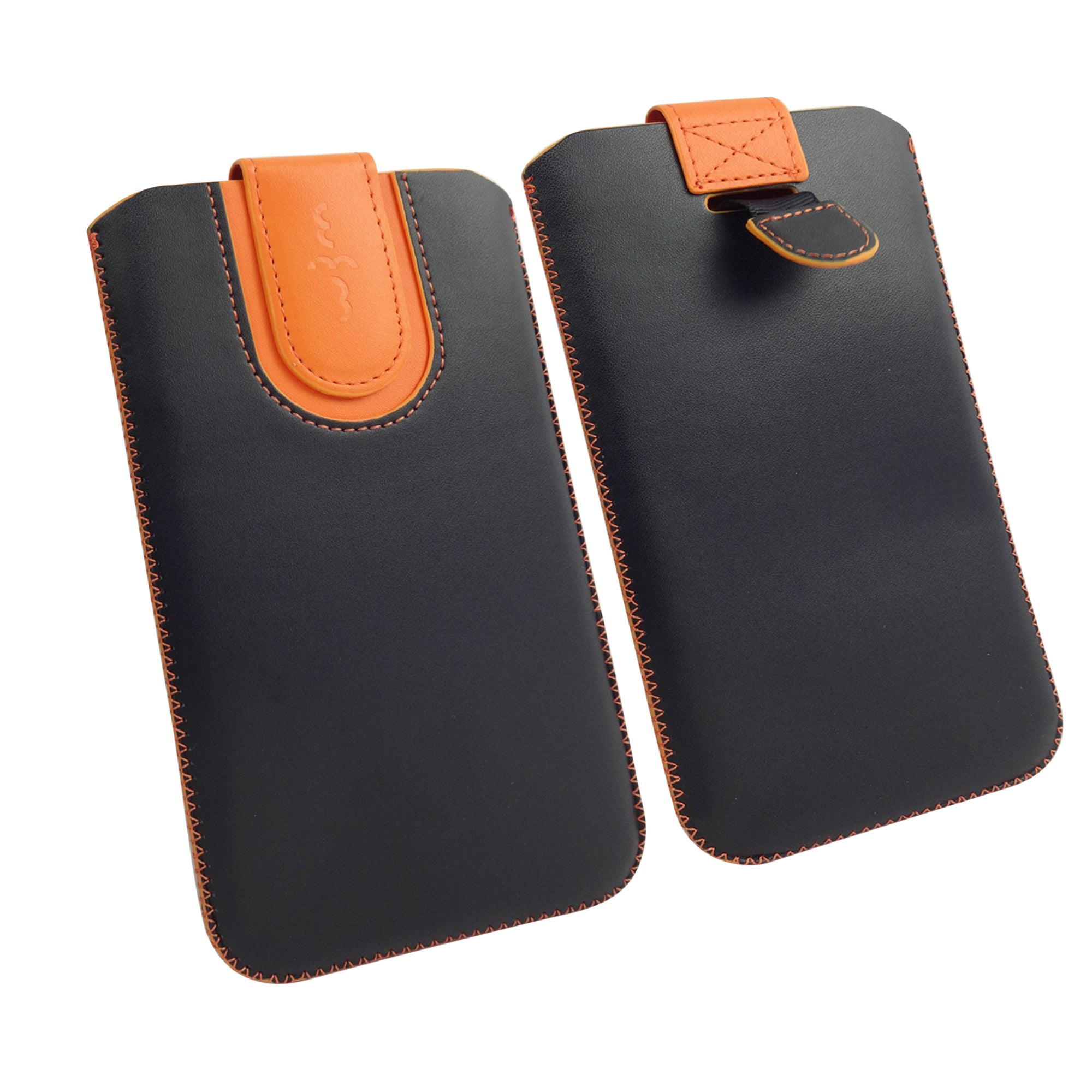 Universal Phone Pouch - Black Orange Plain