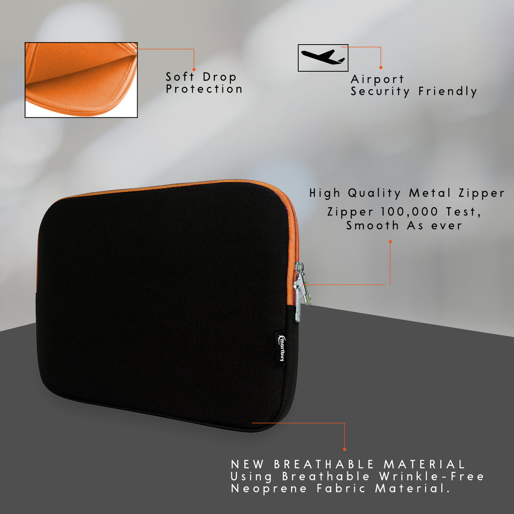 Universal Neoprene Zip Case - Black / Orange