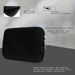 Universal Neoprene Zip Case - Black