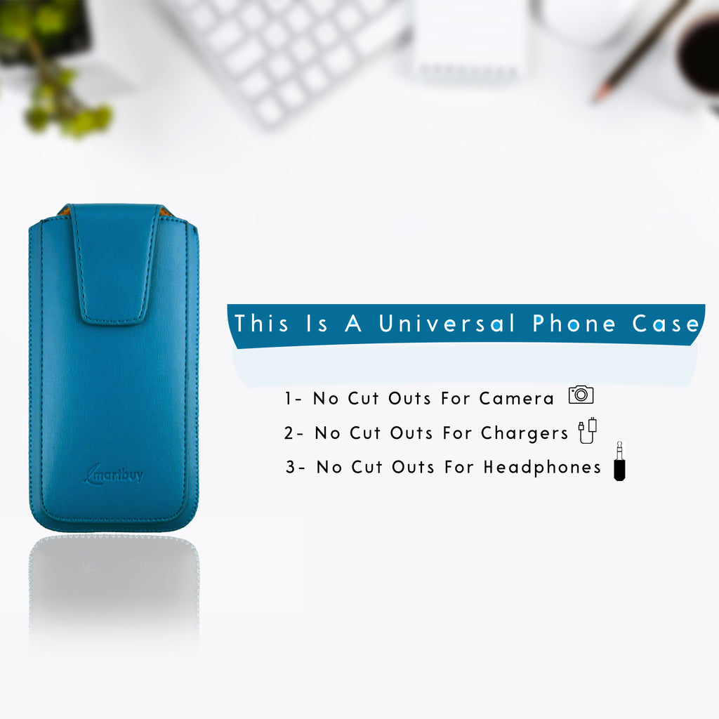 Universal Phone Pouch - Blue Sleek