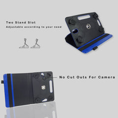360° Rotating Universal Tablet Case - Blue Plain