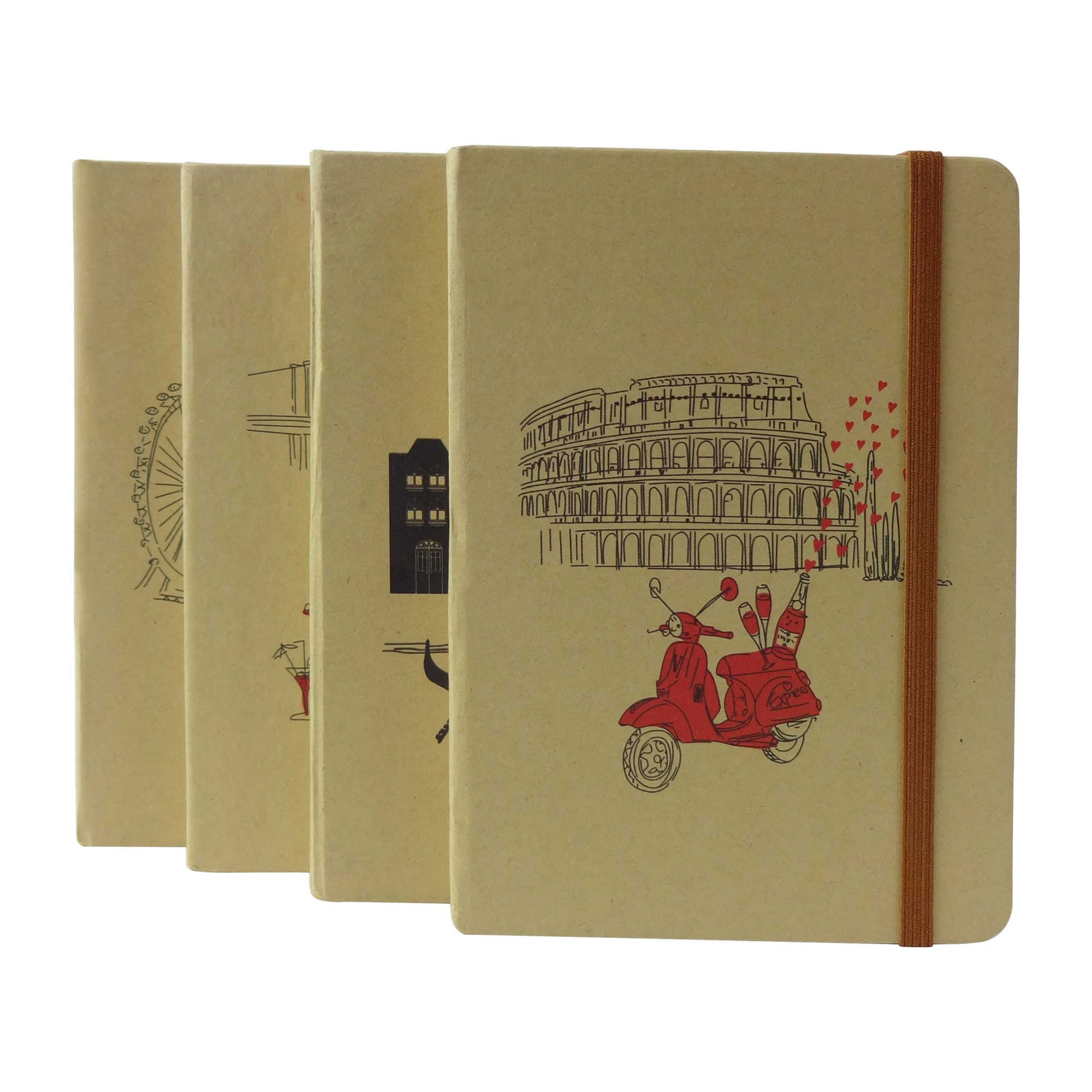 A6 Cities Diary - Set of 4