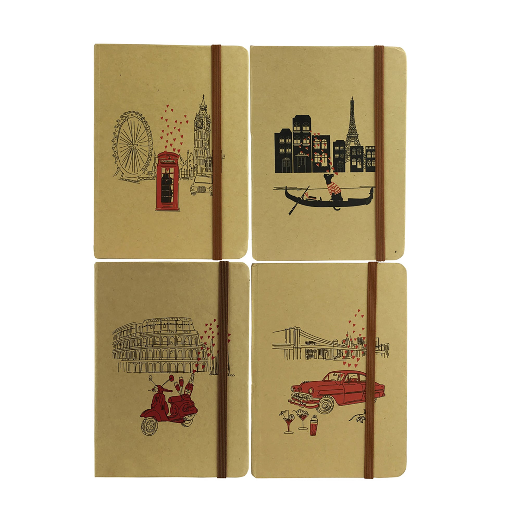 A5 Cities Diary - Set of 4