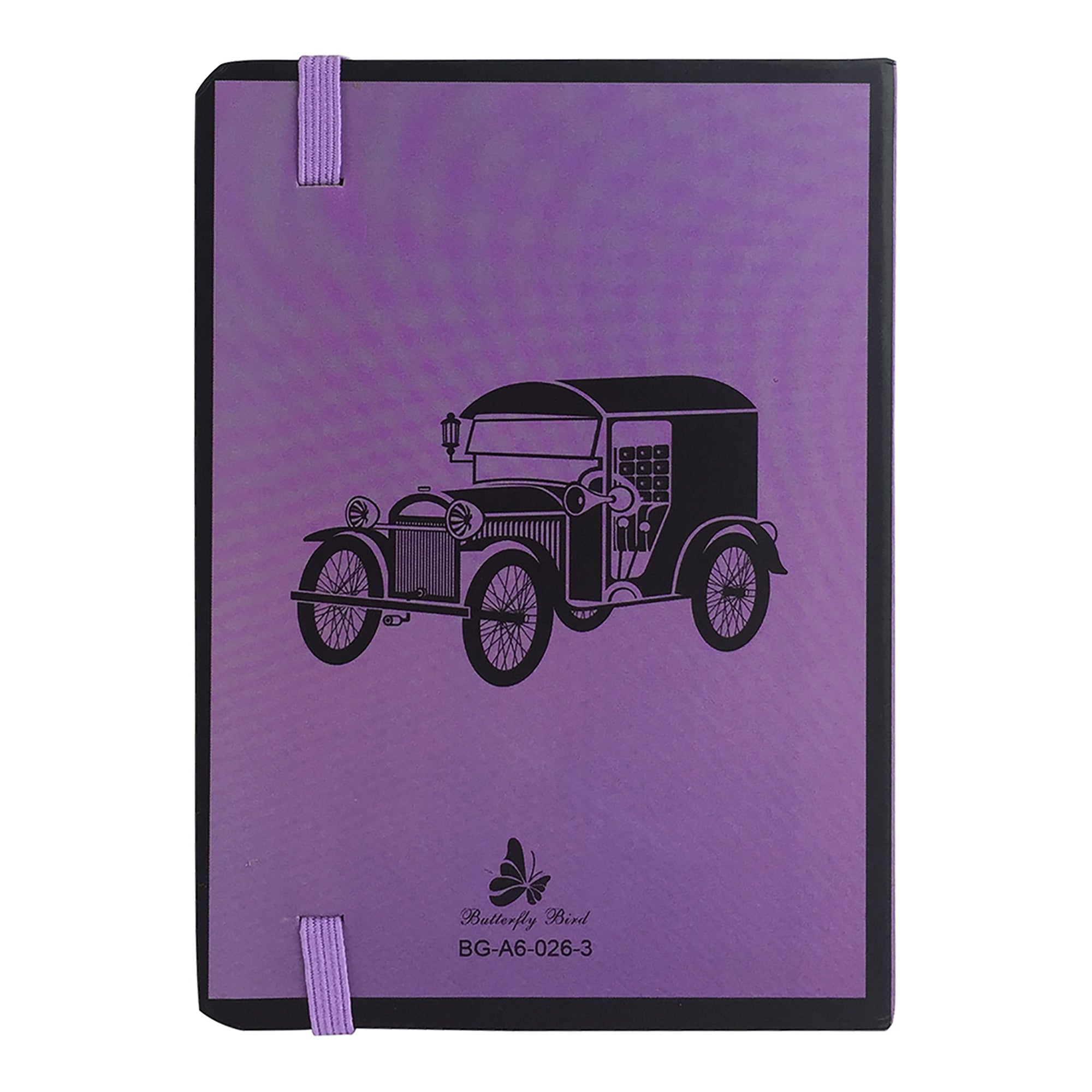A6 Vintage Diary - Purple Car
