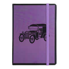 A5 Vintage Diary - Purple Car